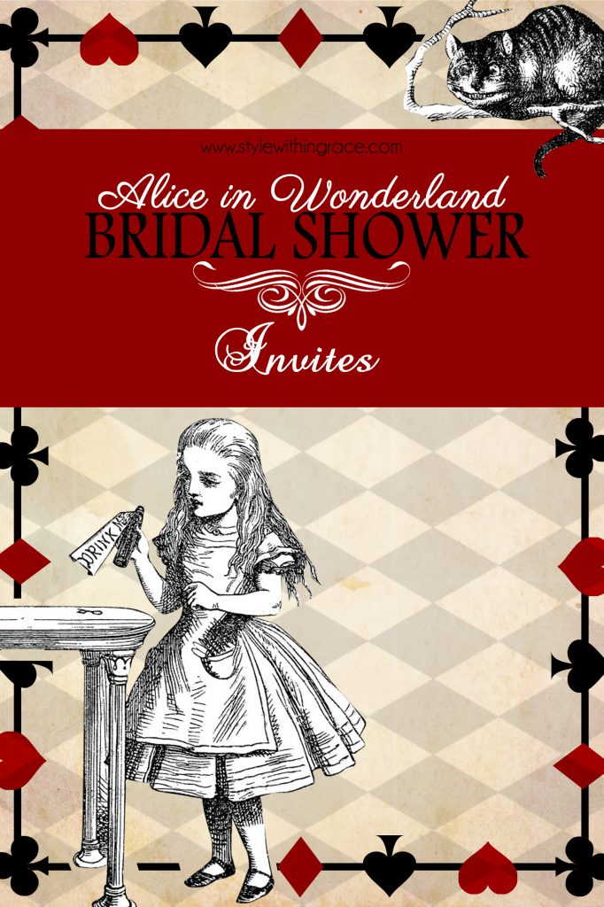 Alice In Wonderland Bridal Shower Invites