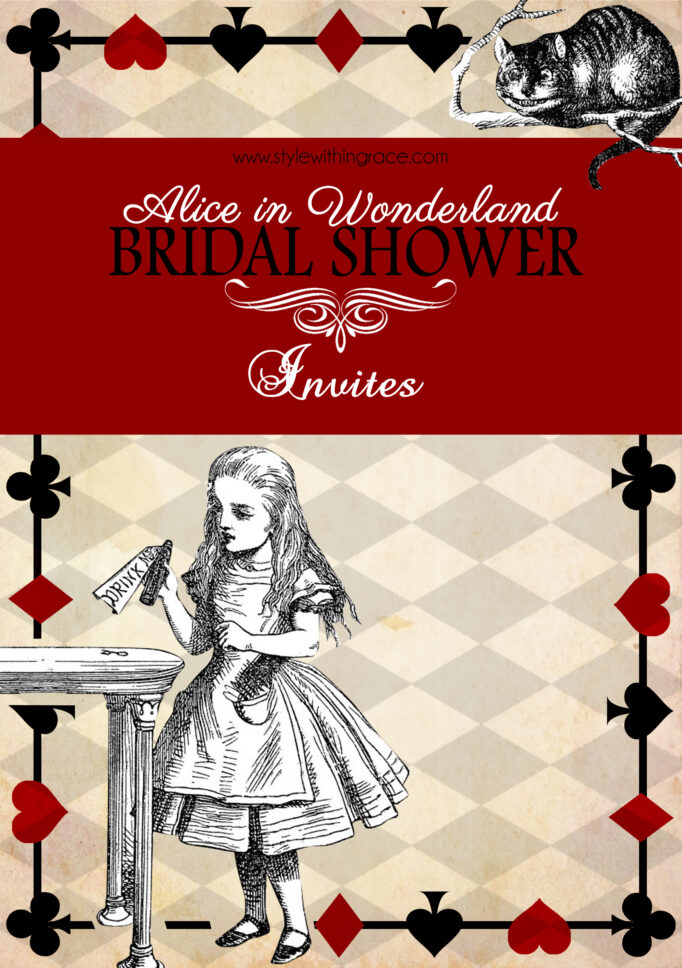 Alice In WonderlandBridal Shower Invites