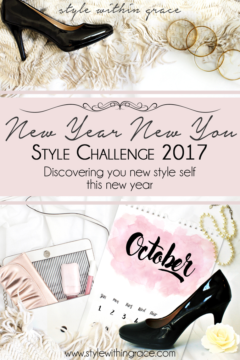 New Year New You Style Challenge (Shopping Ban October) - The wardrobe style challenge this month is to abstain from buying any new clothing items. Are you up for a shopping ban? Here are some tips...