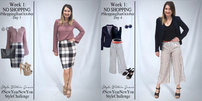 Shopping Ban October Outfit Ideas Week 1
