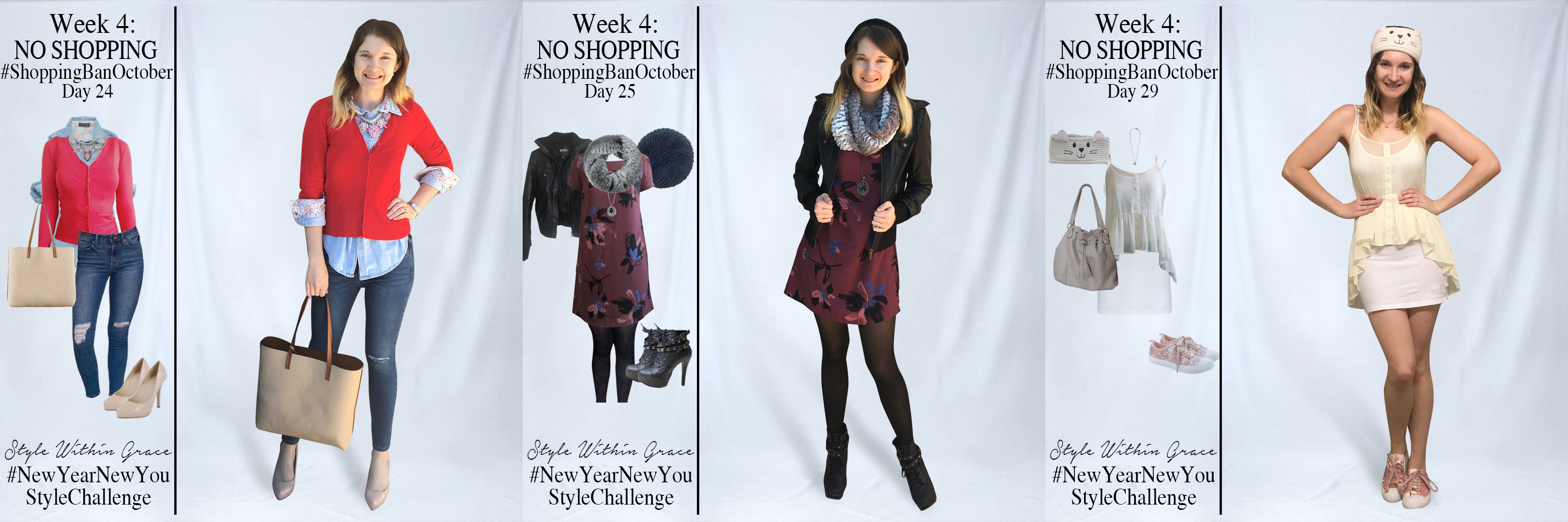 Shopping Ban October Outfit Ideas Week 4