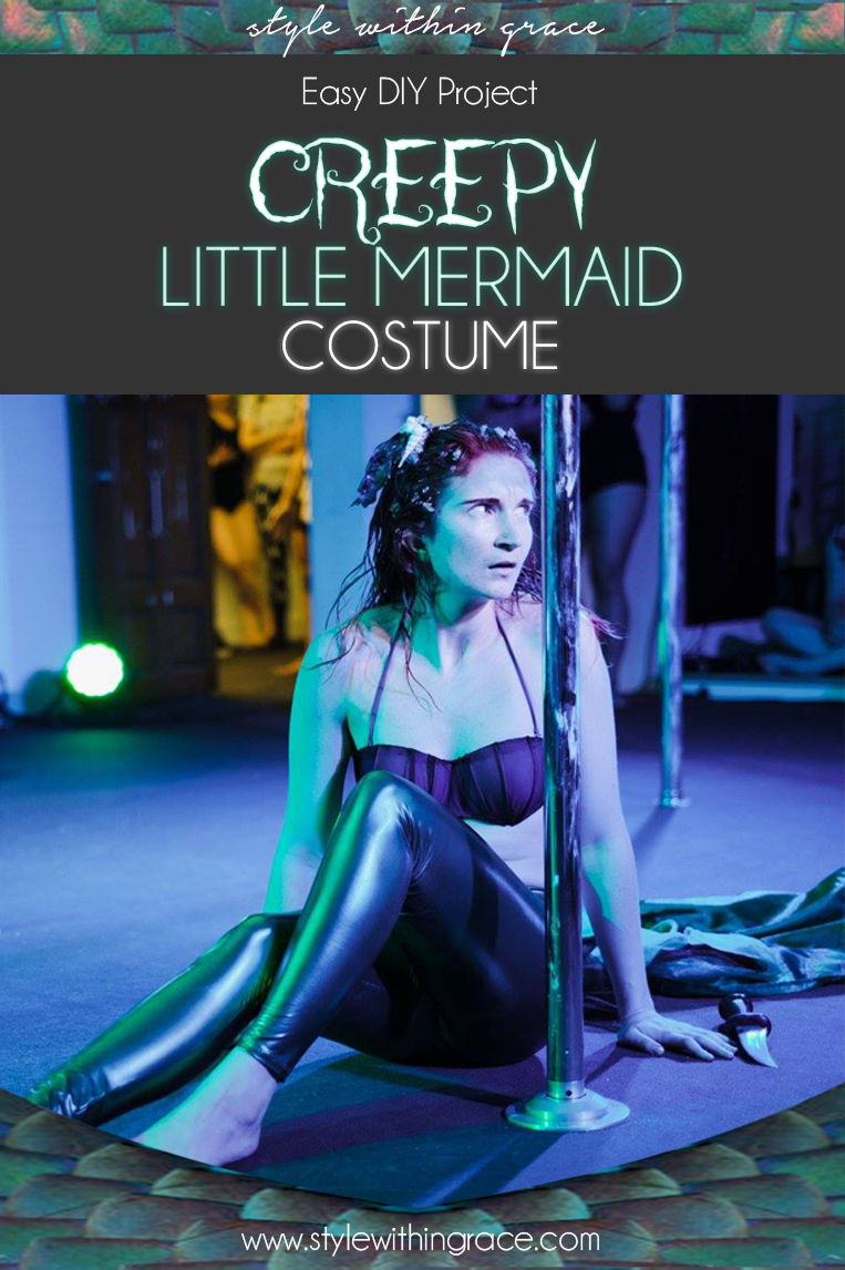 DIY Creepy Little Mermaid Costume - How to tutorials and links to find everything you need to create your own Halloween Inspired Ariel.