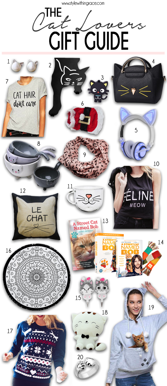 The Cat Lovers Gift Guide - 20 great present ideas for the chic cat lady in your life that she will love!