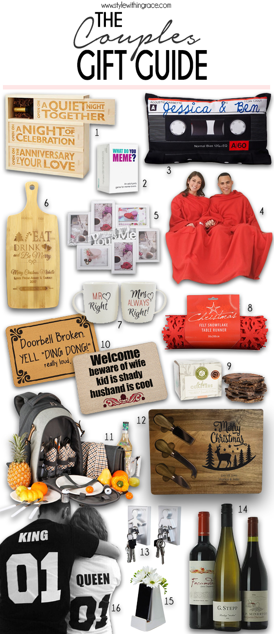 The Couples Gift Guide - 16 awesome present ideas for your couple friends!