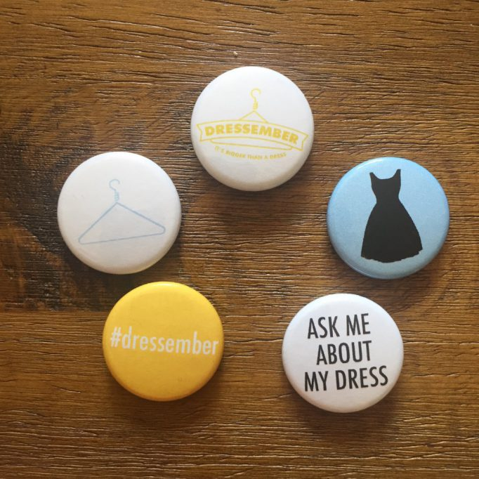 Dressember Pins Ask me About my Dress