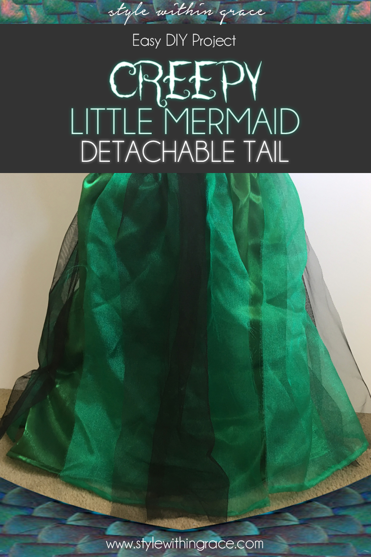 Ariel Little Mermaid Detachable Tail - A DIY Sewing Guide to help you make a mermaid costume tail