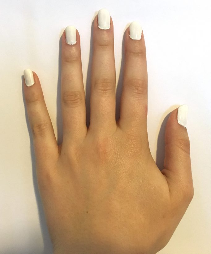 White Nails First Colour