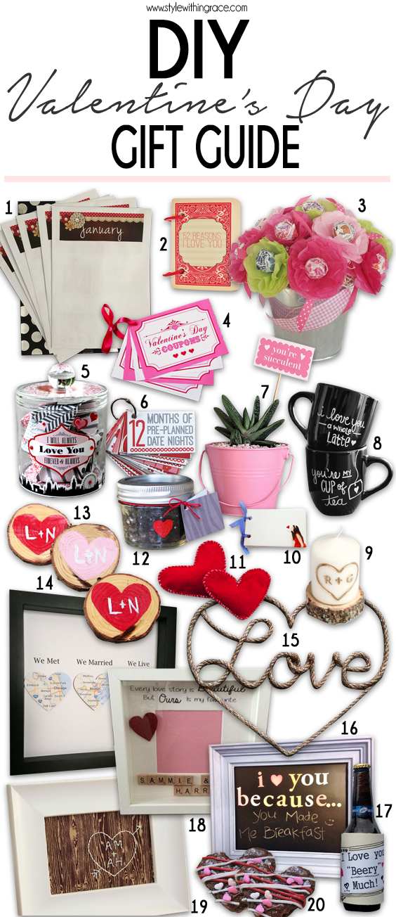 20 easy Valentine's Day DIY gifts that your partner will love! Strapped for cash? These homemade presents come are price savy and come straight from the heart.