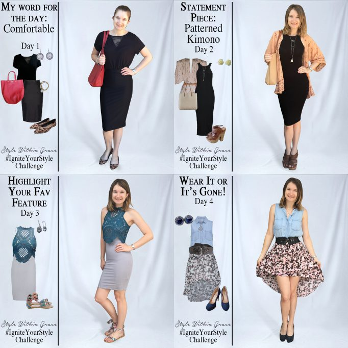 Ignite Your Style Challenge Week Outfits