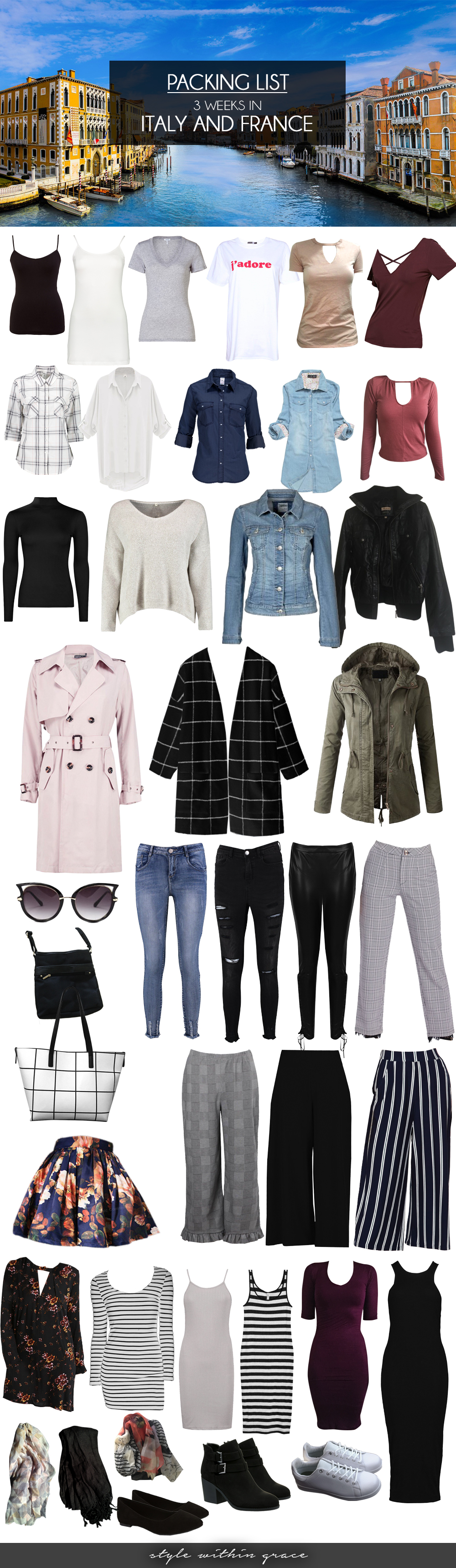 Europe Spring Packing List