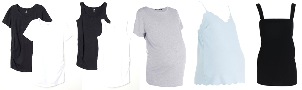Maternity Wardrobe Essentials - Tank Tops and Tees