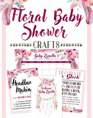 Floral Baby Shower Pinterest Graphic - Crafts