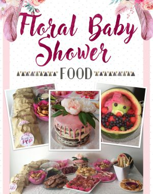 Floral Baby Shower Pinterest Graphic - Food