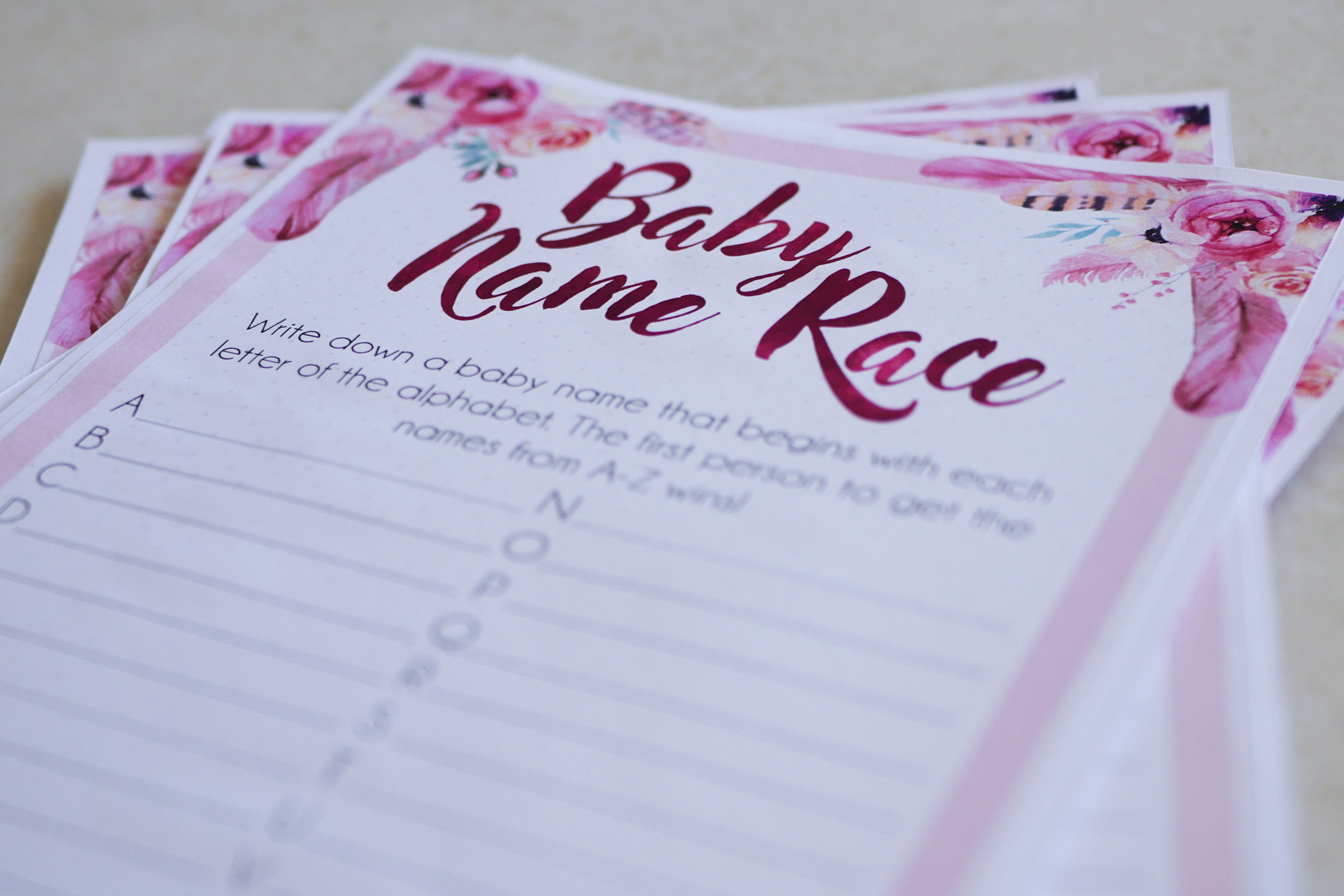 Baby Name Race Game 2