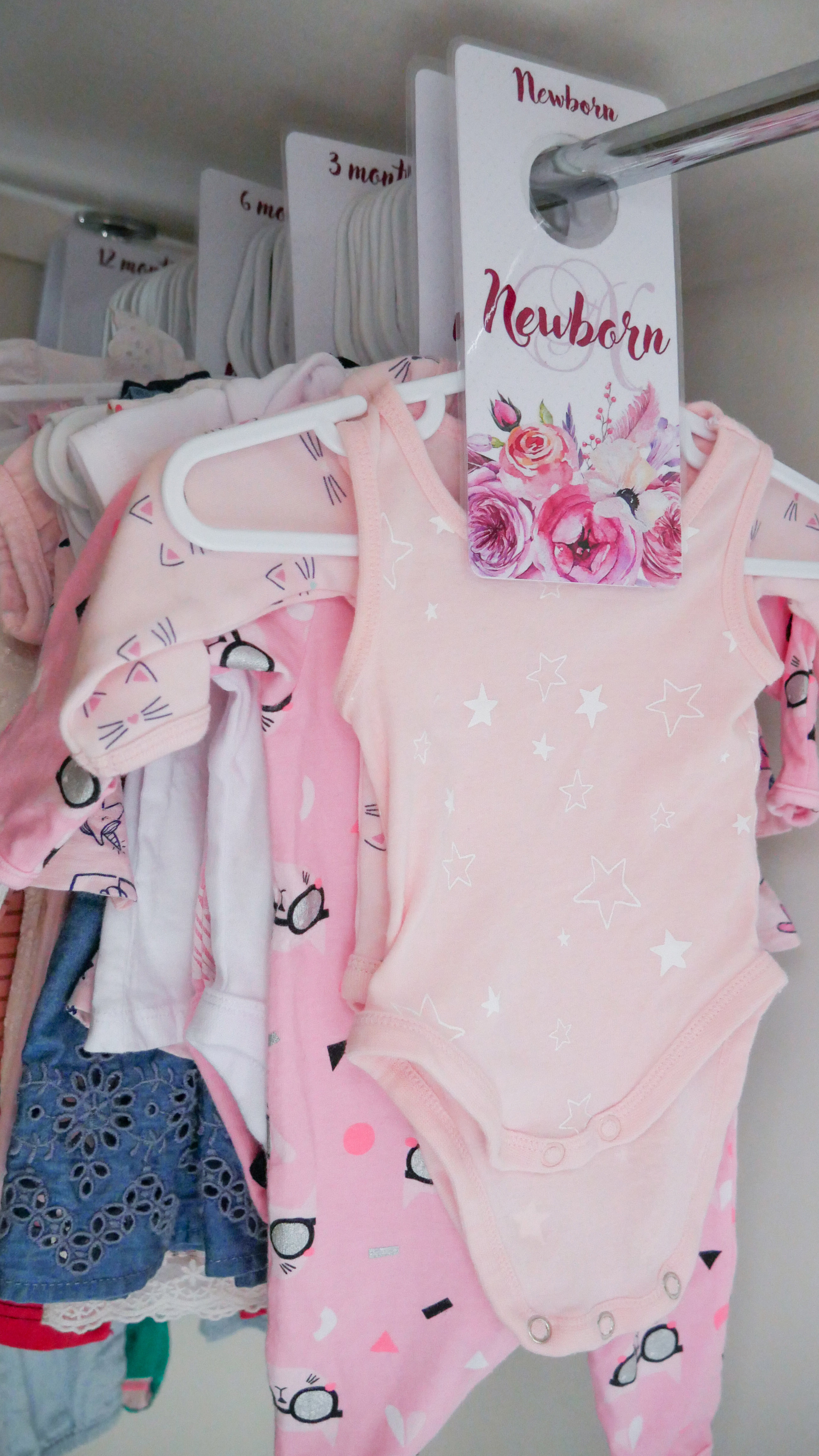 Floral Baby Nursery Reveal Baby Clothing Dividers 1