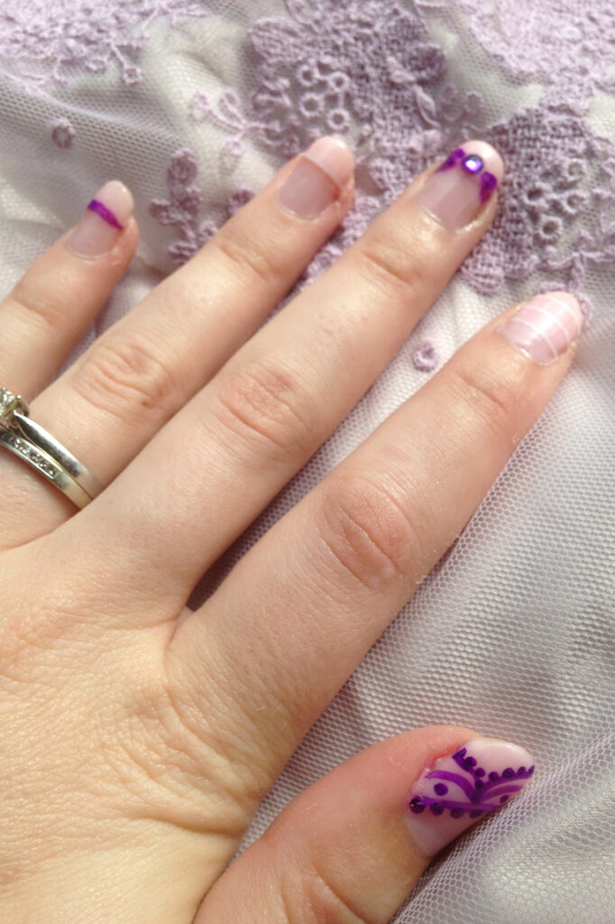Pastel Wedding Nails (With Sharpie Nail Art)