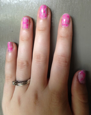Pink Marble Nails Feature Image