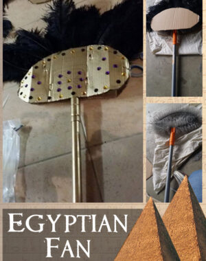 DIY- How to Make an Egyptian Fan Costume Prop