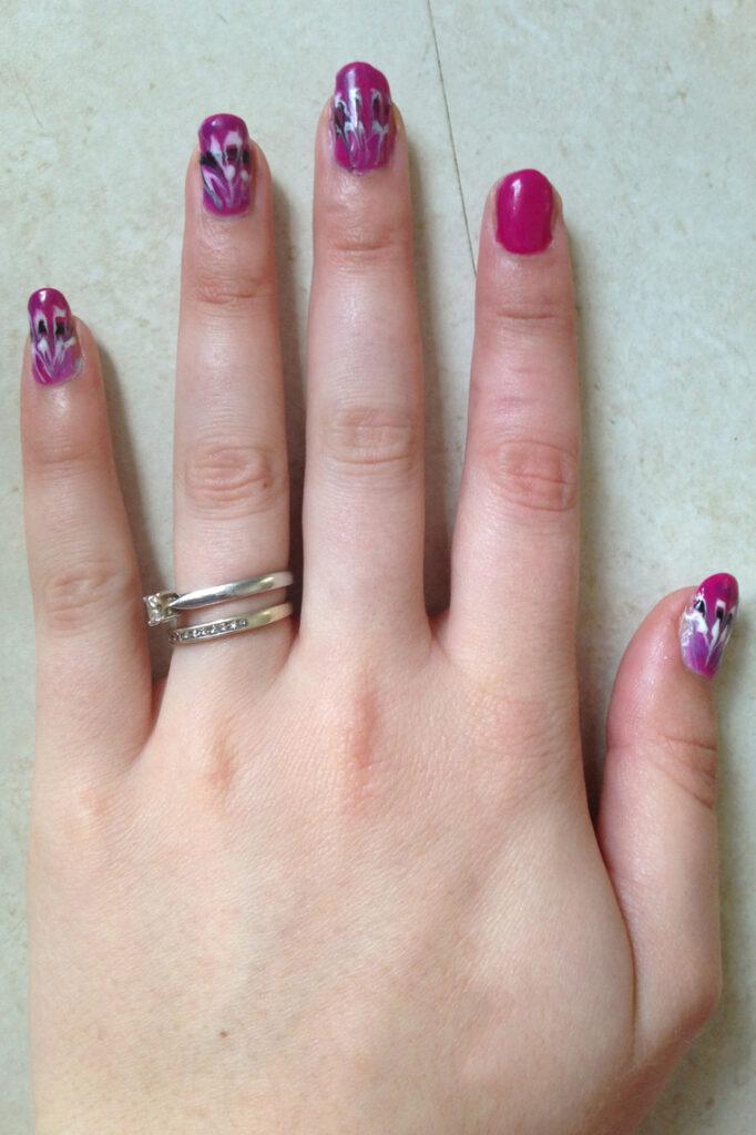 Drag Art Nails and Colour Change Polish