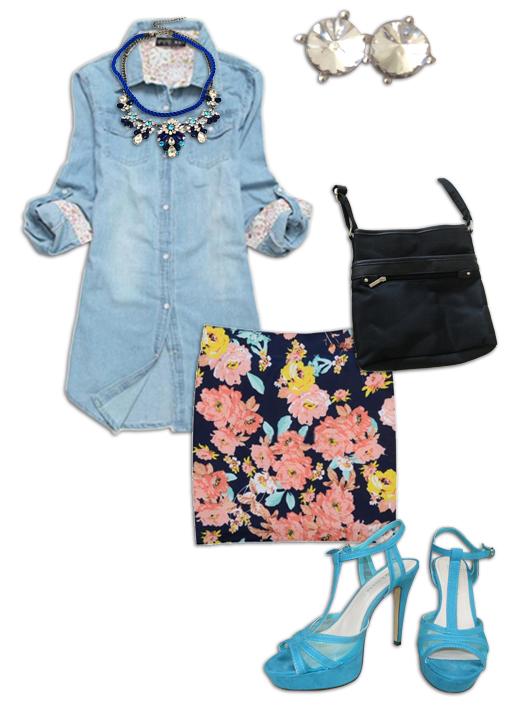 Chambray Shirt Outfit 3