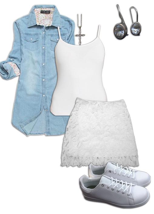 Chambray Shirt Outfit 5