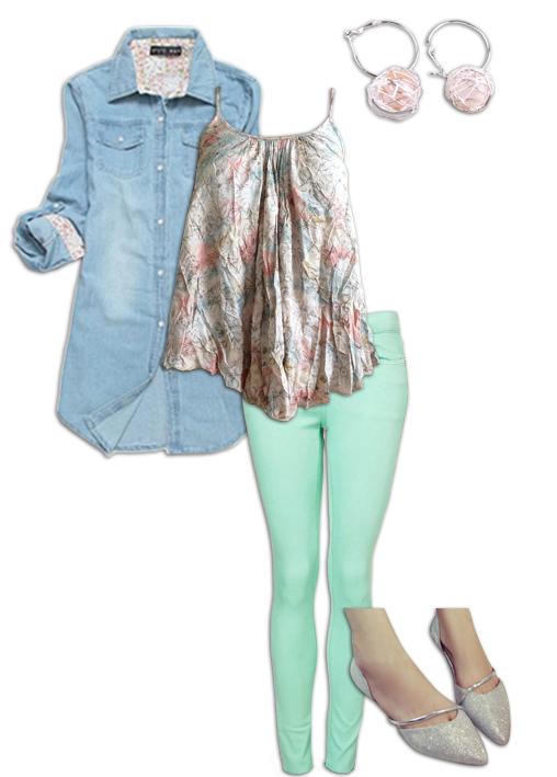 Chambray Shirt Outfit 7