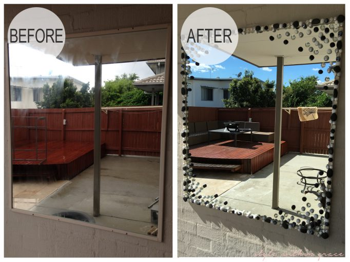 Outdoor Mirror Before and After