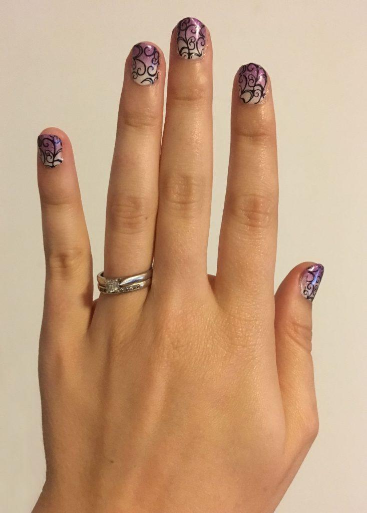 Purple Ombre Swirl Nails 2