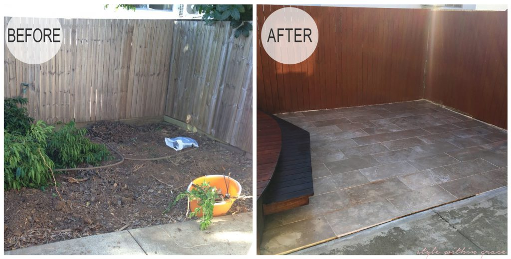 Backyard Deck Before and After