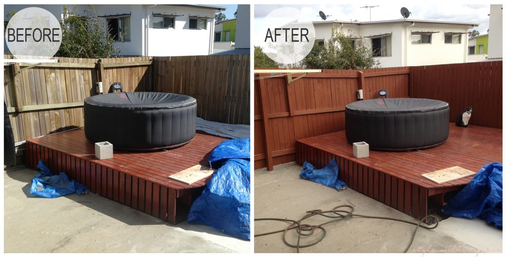 Backyard Makeover Fence Before and After Left