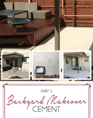 Backyard Makeover Part 3