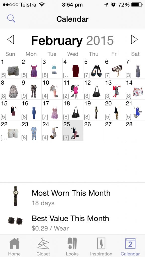 Stylebook Calendar