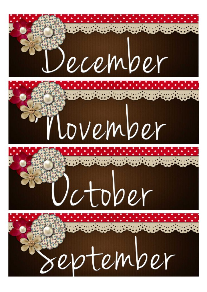 Month Label Printable 1