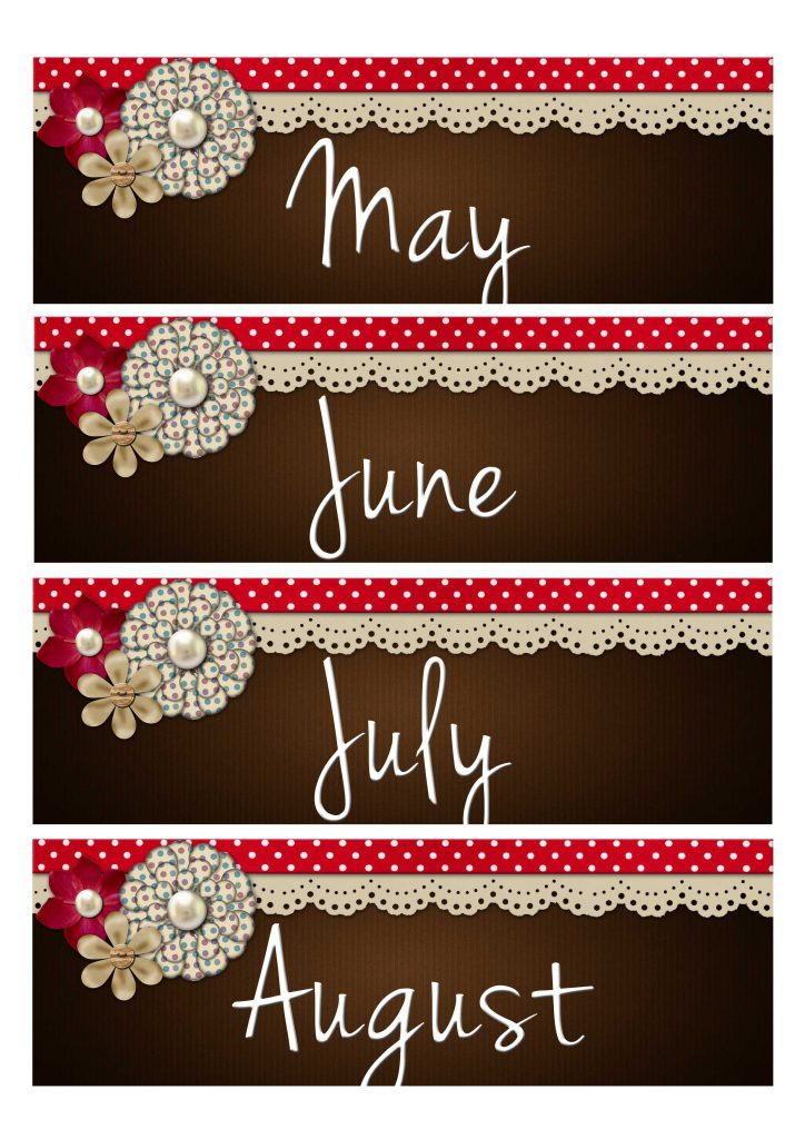 Month Label Printable 3
