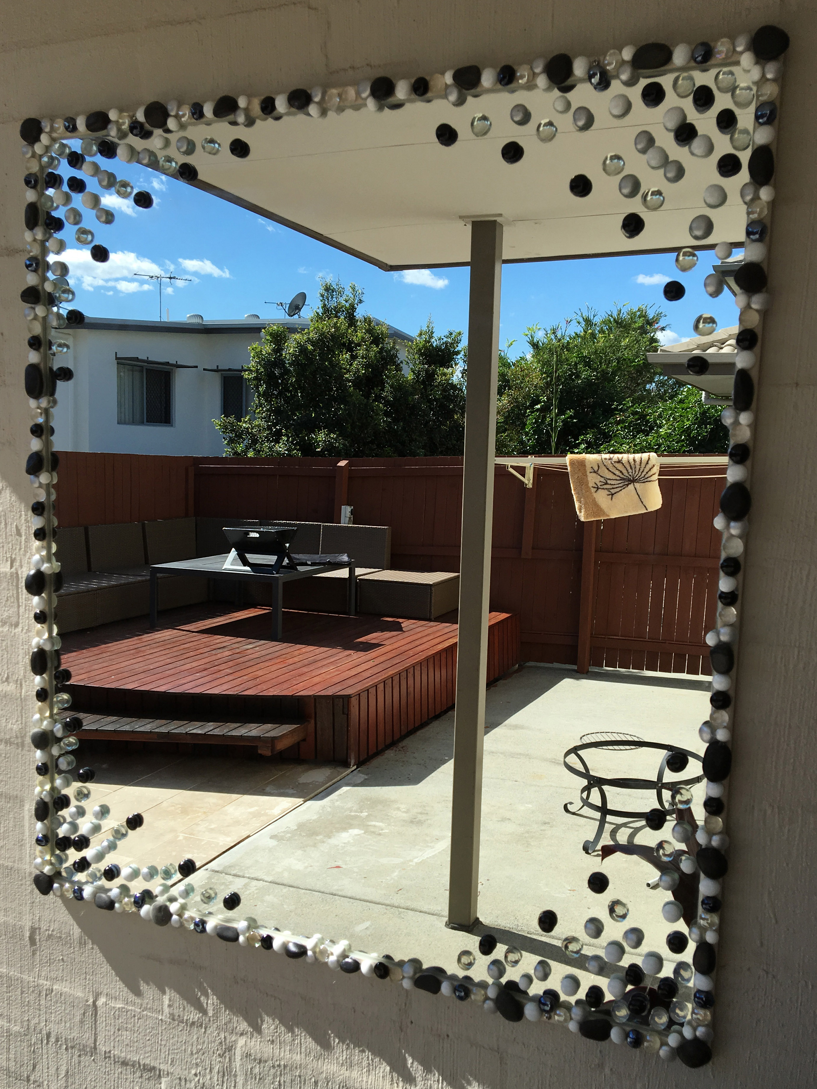 Outdoor Mirror Decoration DIY After 4