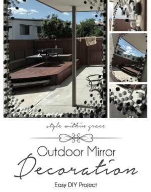 Glass Stone Outdoor Mirror Decoration DIY