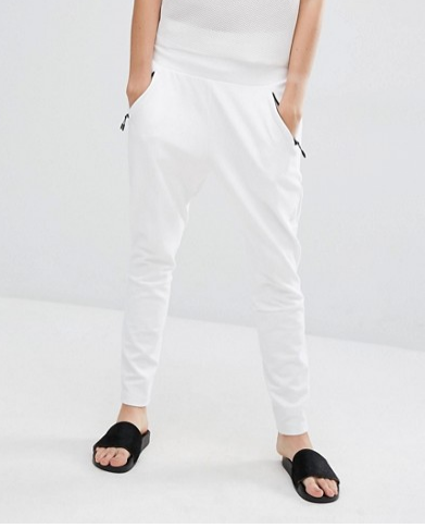 Adidas ZNE White Fitted Sweat Pants