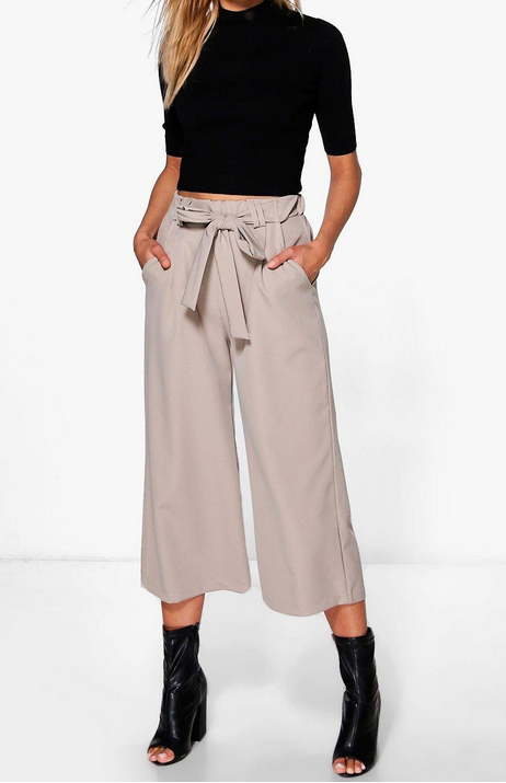 Skye Belted Tailored Culottes