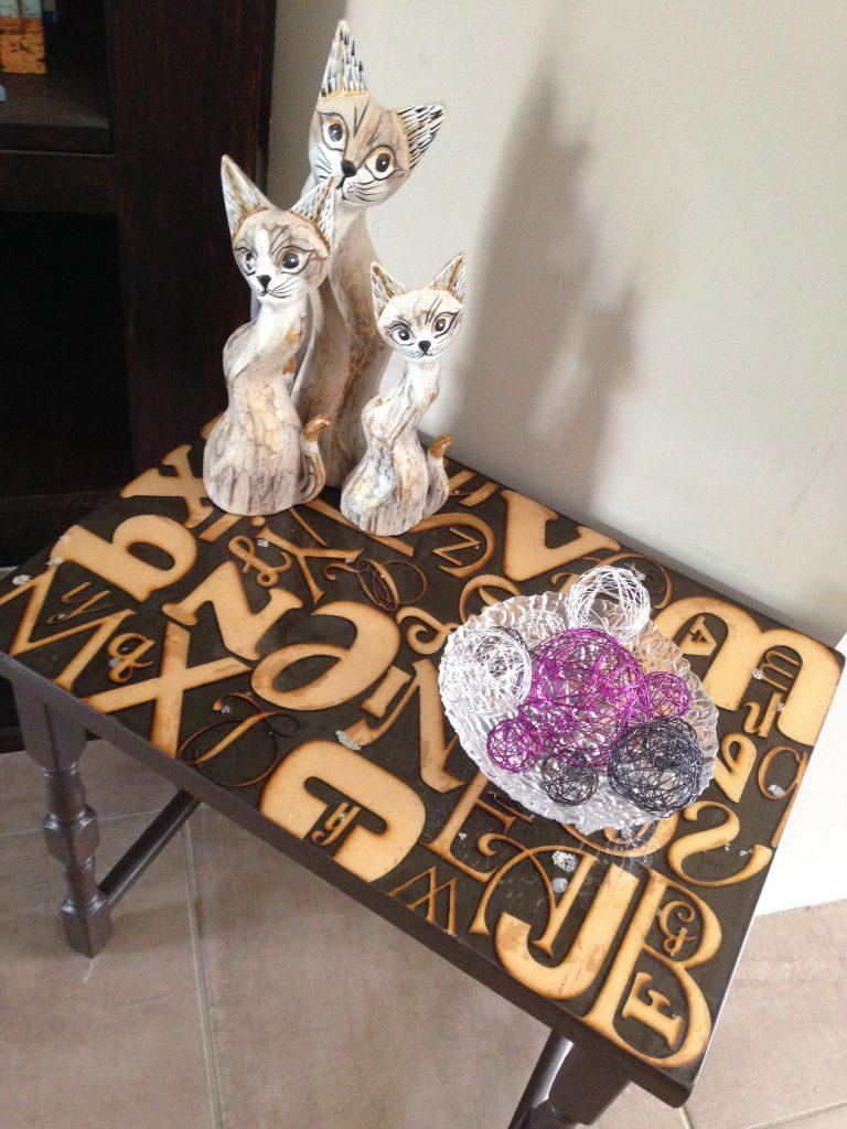 Alphabet Side Table Makeover DIY 1