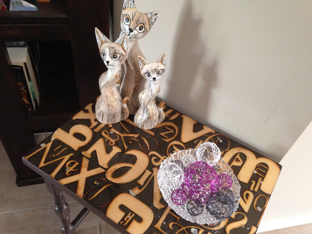 Alphabet Side Table Makeover DIY 3