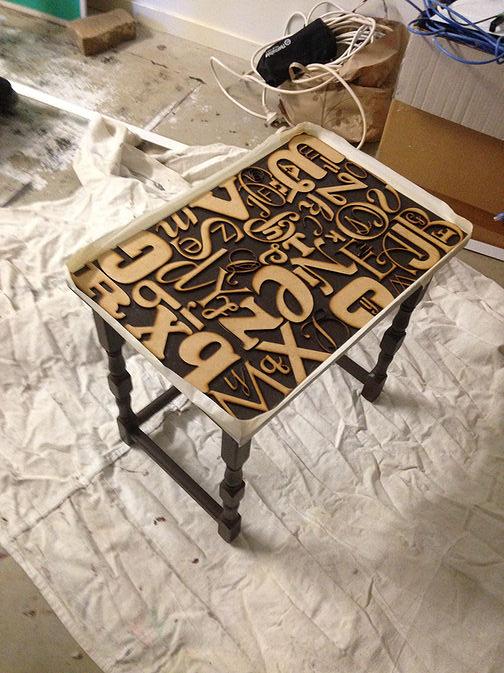 Alphabet Side Table Makeover DIY Step 5