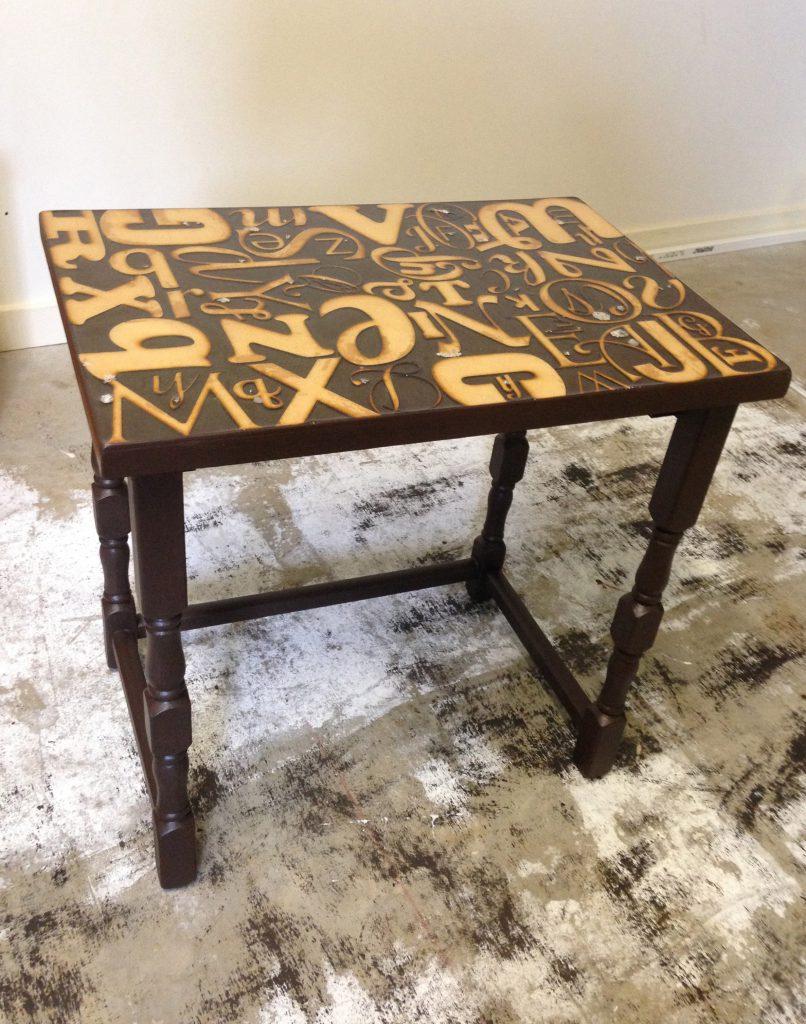 Alphabet Side Table Makeover DIY Step 8-2