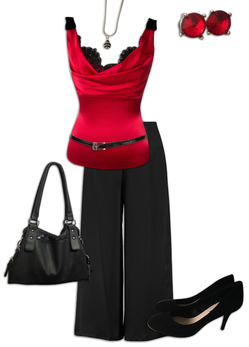 Black Culottes Outfit 1