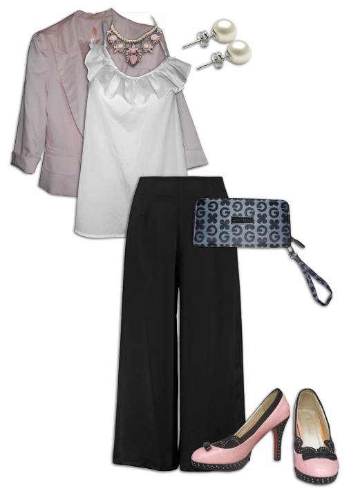 Black Culottes Outfit 4
