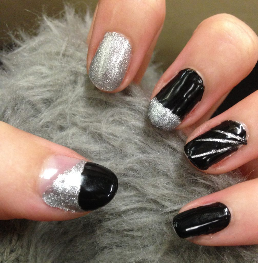 Black and Silver Nails 3