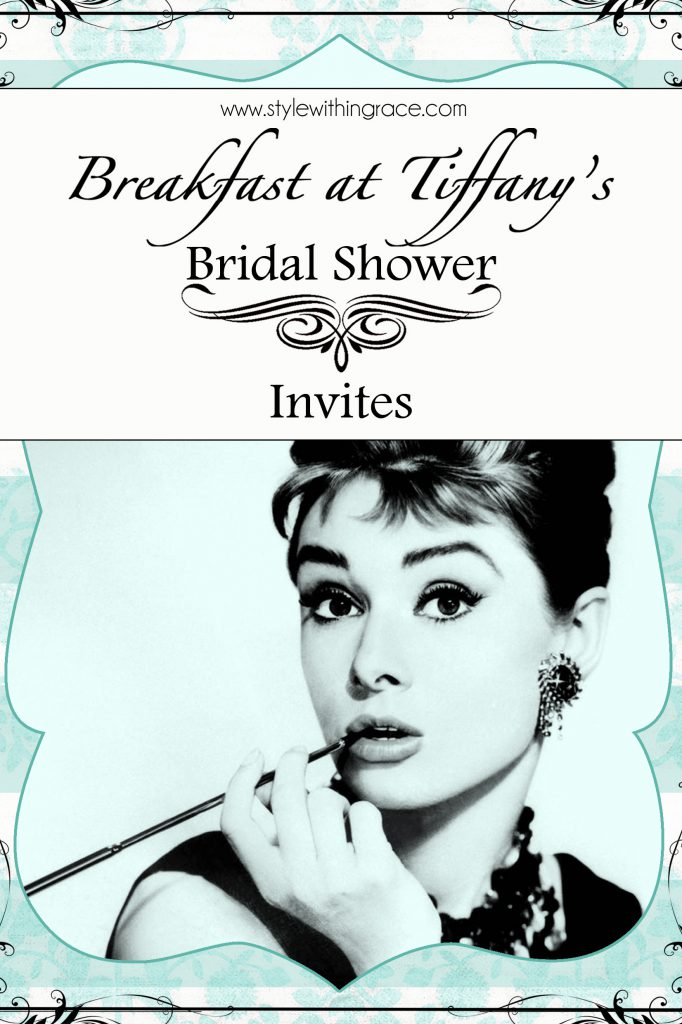 Breakfast at Tiffany's Bridal Shower Invites