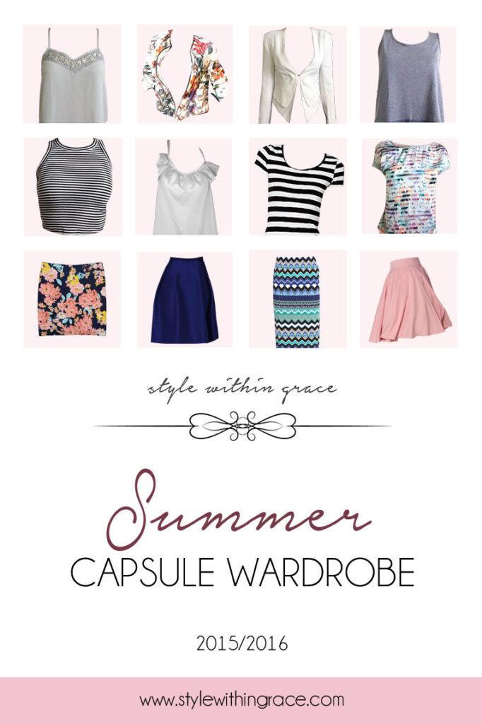 Summer Capsule Wardrobe Title
