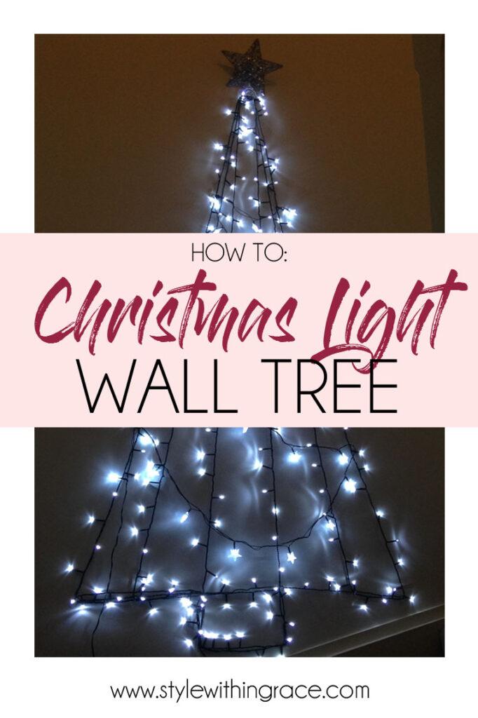 DIY Christmas Light Wall Tree Title