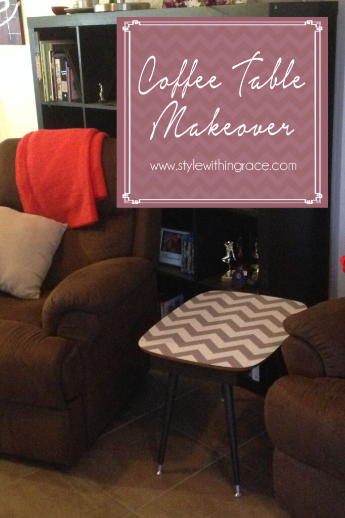 DIY: Chevron Coffee Table Makeover