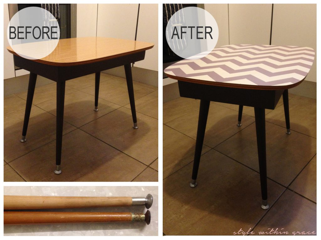 DIY Coffee Table Makeover Before and After